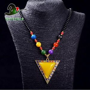 Jewelry - Jade Beads Necklace&gold Plated Amber Necklace